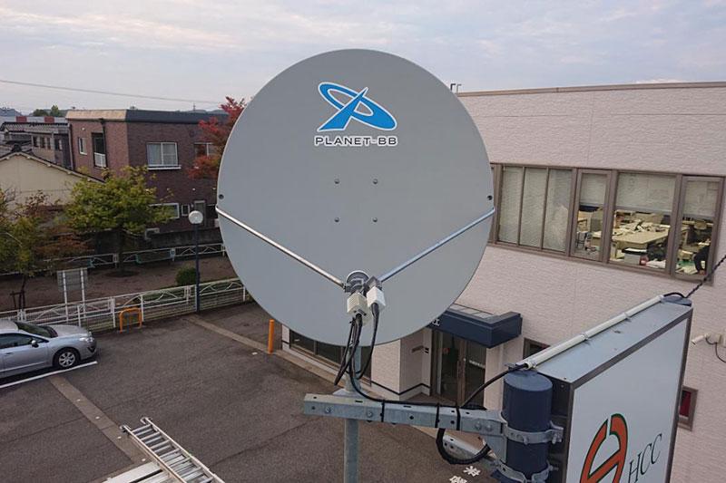 BCP対策設備工事 海外衛星通信設備