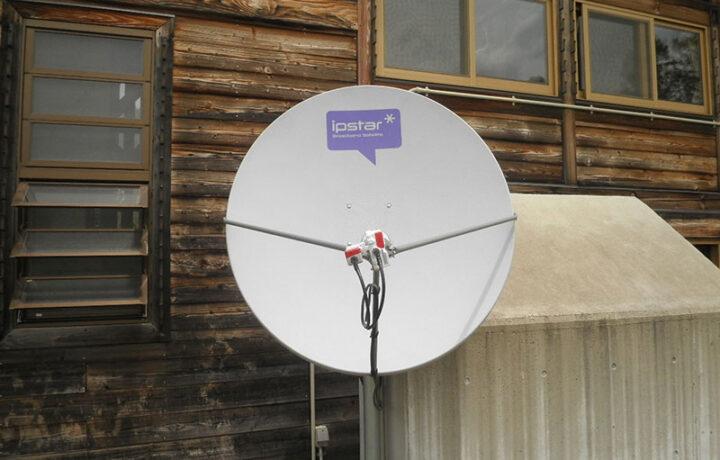 長野県 カヤの平高原(官公庁 )海外衛星通信システム導入工事