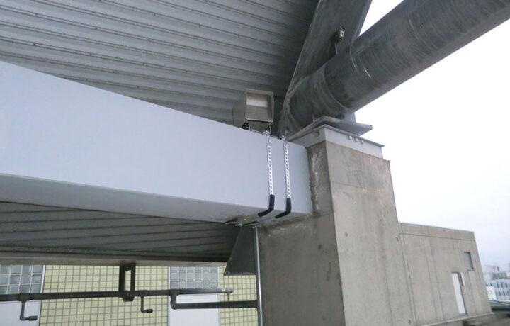 富山市 富山市役所本庁舎(官公庁)鳥獣対策超音波機器設置工事(カラス対策)