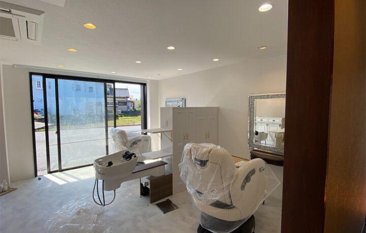 富山市 アランジェ(美容室)電気設備改修工事