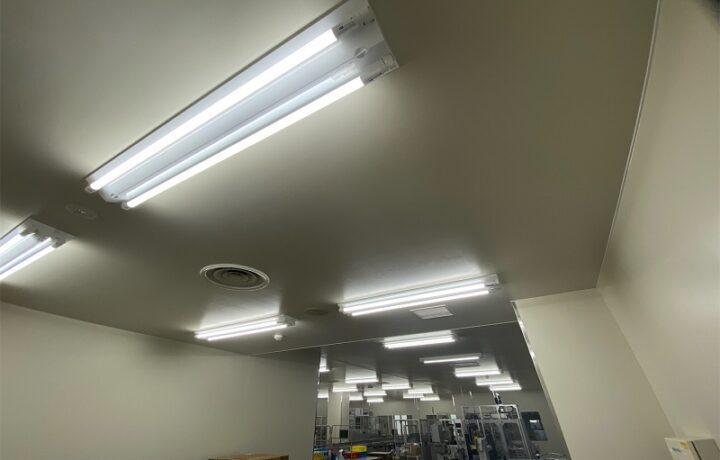 富山市 東亜薬品(株)西本郷工場 LED照明工事
